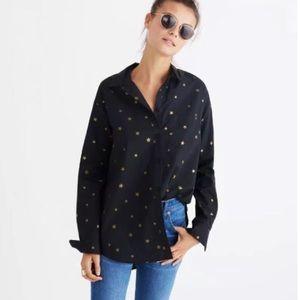 Madewell Star Print Oversized Ex Boyfriend Shirt